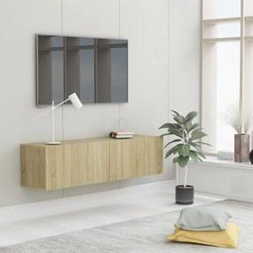 801493 vidaXL Comodă TV, stejar Sonoma, 120 x 30 x 30 cm, PAL