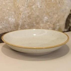 Farfurie adanca Gardena din ceramica crem 23 cm