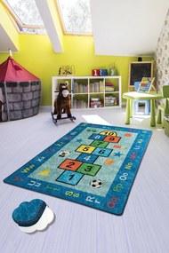 Covor pentru copii Jump Albastru - 200 x 290 cm