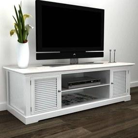 241373 vidaXL Comodă TV din lemn Alb