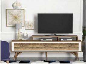 Comodă TV cu aspect de lemn de nuc Tera Home Rosso
