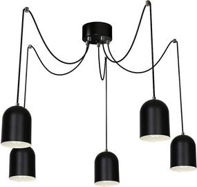 Lampa suspendata BEVIN 5xE27/60W negru