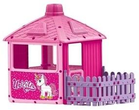 DOLU - Casuta cu gard pentru copii Unicorn