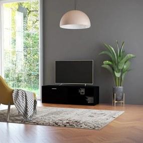 801153 vidaXL Comodă TV, negru, 120 x 34 x 37 cm, PAL