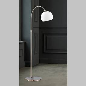 Lampadar Timon, metal/sticla, 20 x 140 x 50 cm, 60w