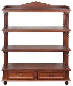 Etajera Edina din lemn maro 86x31x104 cm