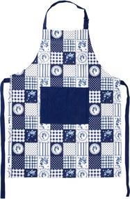 Şorţ Country patchwork, albastru, 60 x 80 cm
