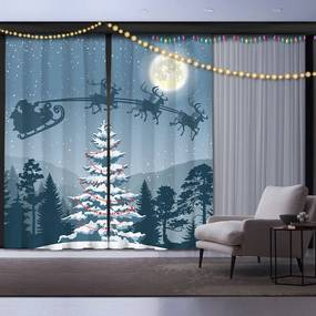 Set 2 draperii Crăciun Night before Christmas