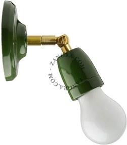 Aplica din portelan verde si alama 036.011.gr Zangra