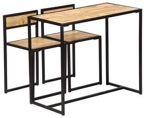247583 vidaXL Set mobilier bucătărie, 3 piese, lemn masiv de mango