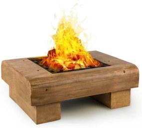 Blumfeldt Lombardia, recipient pentru foc, 40 x 40 cm BBQ- grătar, MagicMag, aspect din lemn