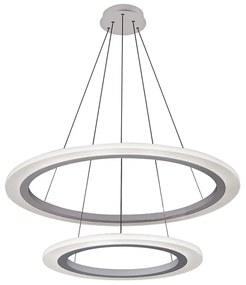 Rabalux 2429 - Lustră LED ADRIENNE LED/62W/230V argintiu