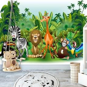 Fototapet Bimago - Jungle Animals + Adeziv gratuit 150x105 cm