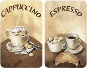 Protecție din sticlă pentru aragaz Wenko Coffee, 2 buc.