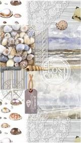 Prosop de plajă cu imprimeu Good Morning Abel, 100 x 180 cm