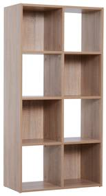 Homcom Librarie Raft 4 Niveluri Culoare Lemn Natural 61,5x29,5x122,5cm