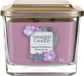 Yankee Candle lumanare parfumata Elevation Sugared Wildflowers pătrata mijlocie 3 fitile