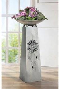 Suport flori Dream, metal, gri antracit, 95x46 cm