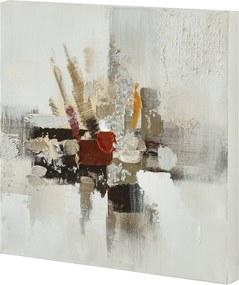 [art.work] Tablou pictat manual - Model 53 - abstarct - panza in, cu rama ascunsa - 30x30x2,8cm