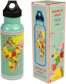 Sticlă de călătorie din inox Rex London World Map