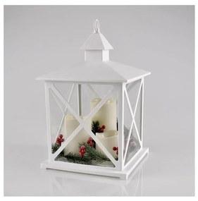 LED Decorațiune de crăciun 3xLED/3xAAA felinar alb lumânări