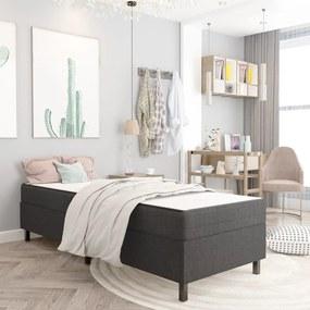 287460 vidaXL Cadru de pat, gri, 80 x 200 cm, material textil