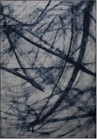 Covor albastru cu gri Bob Blue (200x300) | WHITE LABEL LIVING