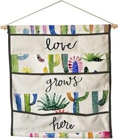 Organizator de perete cu buzunare Surdic Love Grows