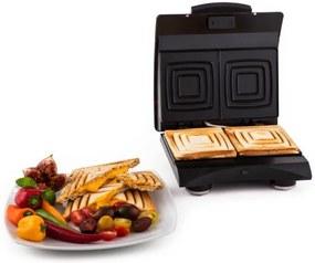 Klarstein Sandwich maker 700 W cu 2 suprafețe de încălzire din oțel inoxidabil rosu