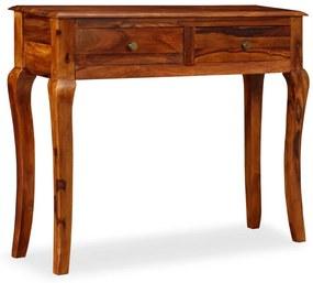 245159 vidaXL Masă consolă din lemn masiv de sheesham, 90 x 32 x 76 cm