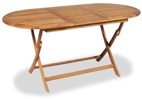 Masă pentru exterior din lemn de tec, 160 x 80 x 75 cm
