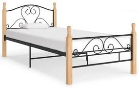 324940 vidaXL Cadru de pat, negru, 100 x 200 cm, metal