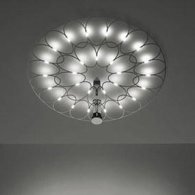Lafra - Plafonieră LED neagră cu finisaj crom