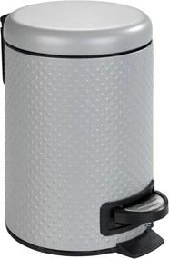 Coș de gunoi pentru baie Wenko Punto, 3 l, oțel, gri
