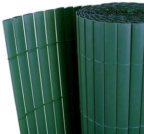 Gard cu Faţă Dublă din PVC Verde 300 x 200 cm Şipcă 12 mm