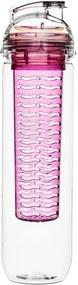 Sticlă cu infuzor Sagaform Fresh, 800 ml, roz