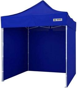 Cort pliabil 2x2m  - 2x2m cu 3 pereți - Albastru
