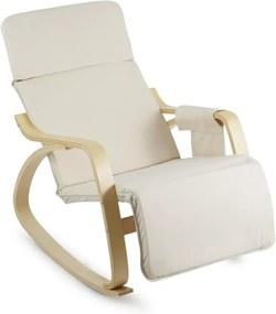 OneConcept Beutlin, scaun balansoar 68X90X97 CM (LxÎxA), mesteacăn, lemn, bej