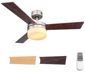 Globo 03813 - Ventilator de tavan ALANA 2xE14/40W/230V + Telecomandă