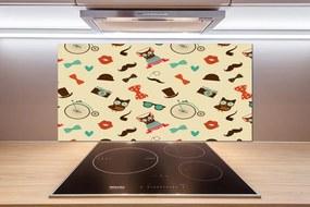 Sticlă printata bucătărie Bufnițe hipsterskie
