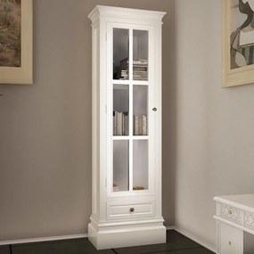 Bibliotecă dulap elegant cu 3 rafturi, alb, lemn