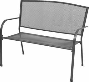 42732 vidaXL Bancă de grădină, antracit, 108 cm, oțel și plasă