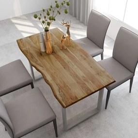 286478 vidaXL Masă de bucătărie, 140 x 70 x 76 cm, lemn masiv de acacia