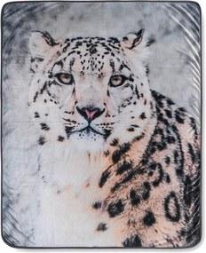 Pătură Muller Textiels Snow Leopard Grey, 130 x 160 cm