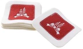 Set Cos Picnic Vintage alb-rosu 38 cm