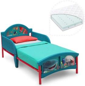 Delta Children Set pat cu cadru metalic Finding Dory si saltea pentru patut Dreamily - 140 x 70 x 10 cm