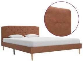 280559 vidaXL Cadru de pat, maro, 140 x 200 cm, material textil