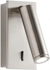 Resigilat - Aplică de perete LED încastrabilă Redo ROD, nichel mat