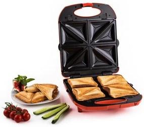 Klarstein Trinity 3 in 1 Sandwich Maker XXL 1300 W rosu