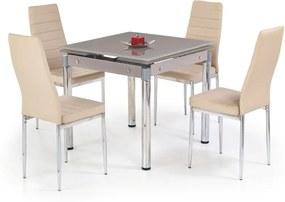 KENT masă extensibilă bej, oțel cromat